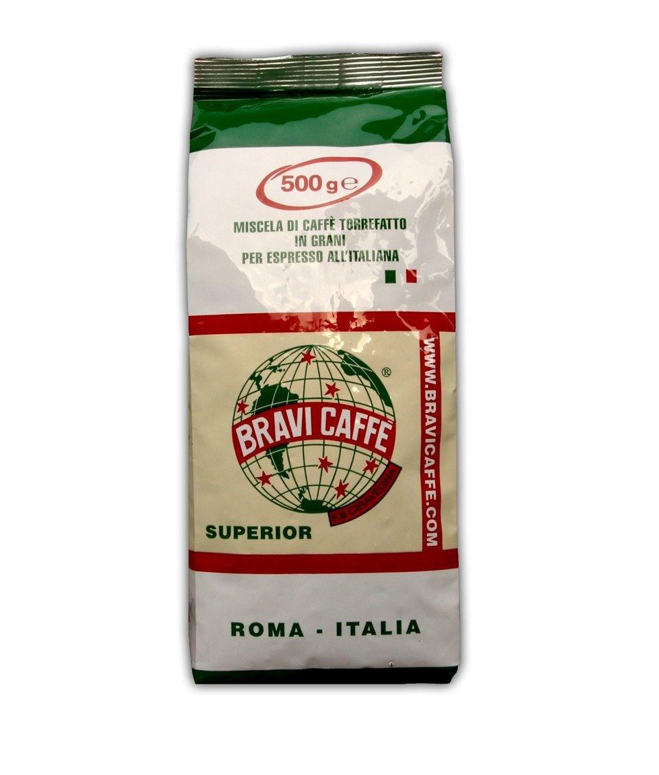 Kawa ziarnista SUPERIOR Gusto e Aroma 500g Bravi Caffe