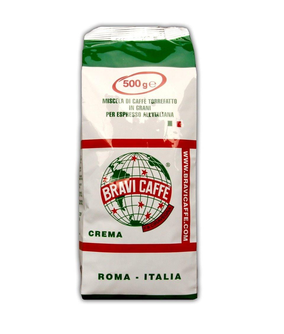 Kawa ziarnista CREMA Espresso 500g BRAVI CAFFE