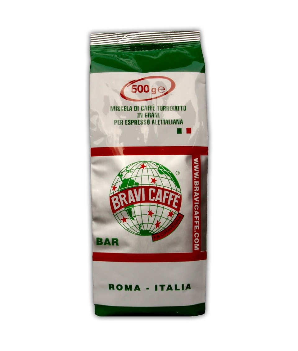Kawa ziarnista espresso BAR 500g Bravi Caffe